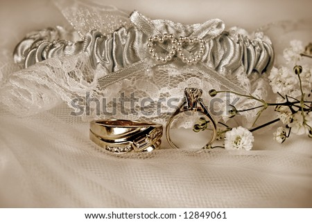 diamond rings and garter