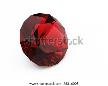 diamond (ruby) - stock photo