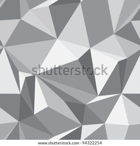 Diamond seamless geometric pattern - abstract polygon texture - stock photo