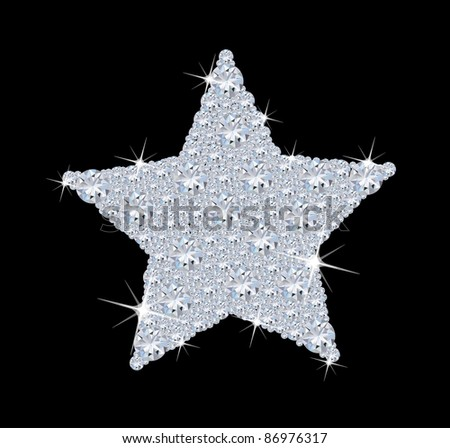 Diamond star - stock photo