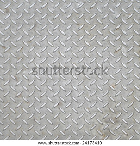Diamond steel plate industrial iron metal background - stock photo