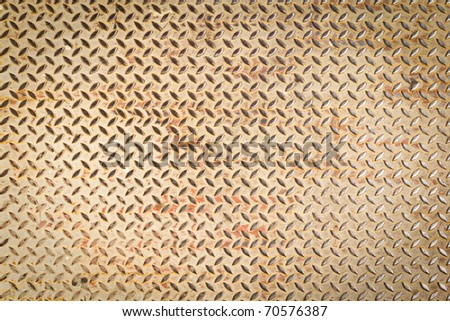 diamond steel plate texture for background - stock photo