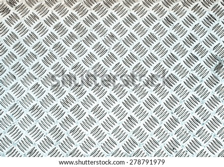Diamond steel plate useful as a background - cool cold tone - stock photo
