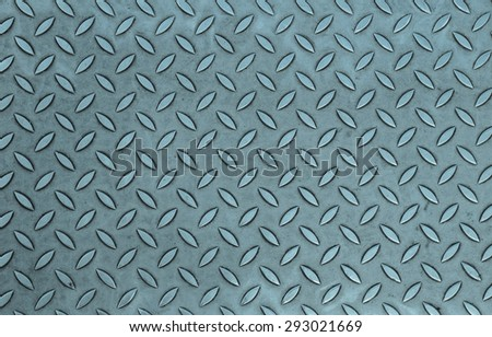 Diamond steel plate useful as a background - cool cold tone