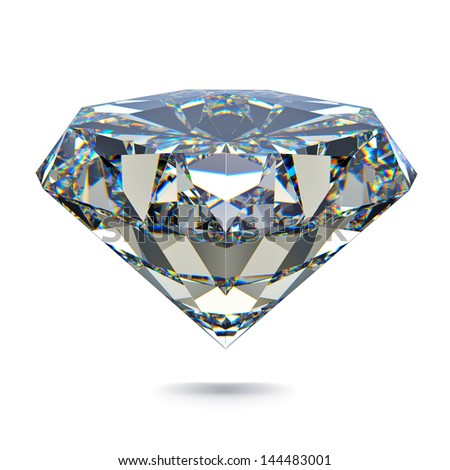 Diamond stone - isolated on white background - stock photo