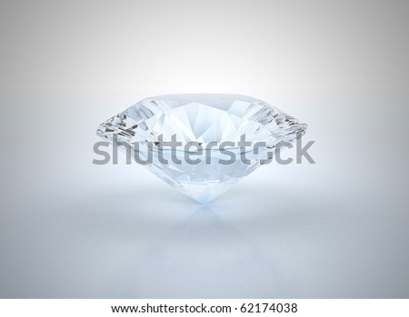 Diamond with blue shade