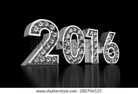 Diamonds 2016 - stock photo
