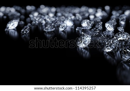 Diamonds background with space for text