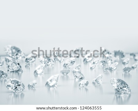 Diamonds close up - stock photo