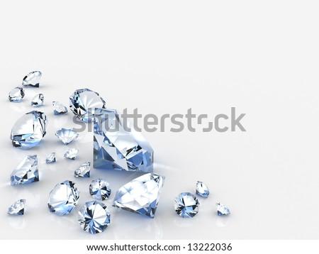 diamonds. 3d rendering image - stock photo