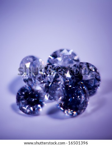 Diamonds for a background. - stock photo
