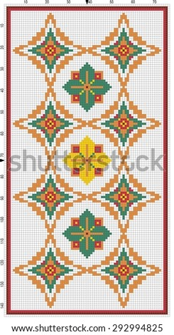 Diamonds Forever - Software created image of cross stitched needlework. Background color is optional.