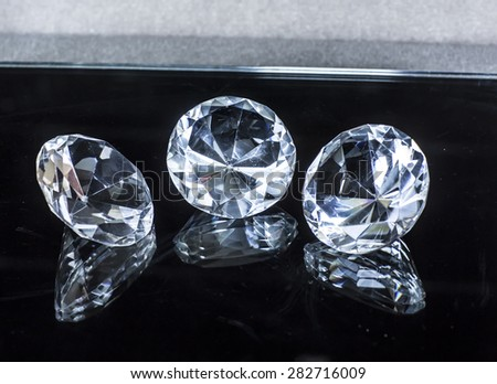 diamonds jewel - stock photo
