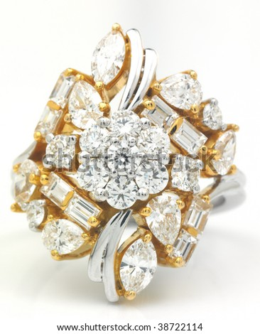 Diamonds ring - stock photo