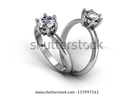 Diamonds ring on white gold body shape the most luxurious