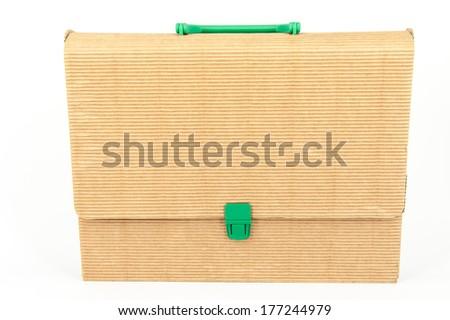 diary and folder - stock photo