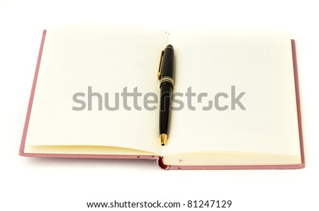 diary and pen - stock photo