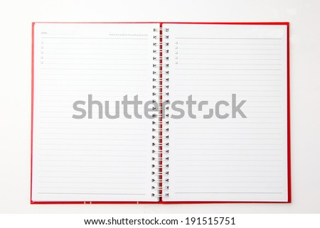Diary book for planner your life  with white background  - stock photo