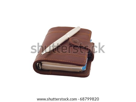 diary isolated on a white background - stock photo