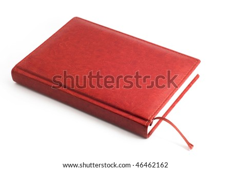 diary of a brown skin, white background - stock photo