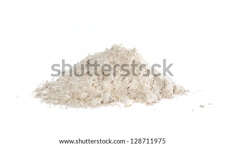 Diatomaceous earth, natural insecticide that kills by breaking the exoskeletons causing dehydration. Also used as filtration aid, abrasive, absorbent, stabilizer, thermal insulator and filler. - stock photo