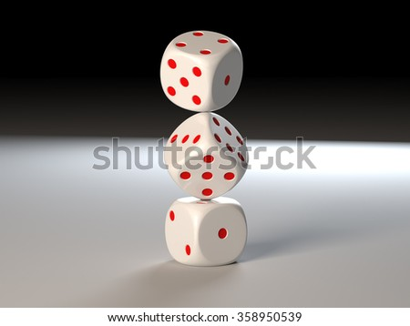 Dice - stock photo