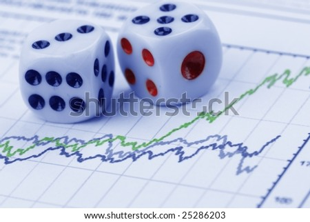 dice and chart - stock photo