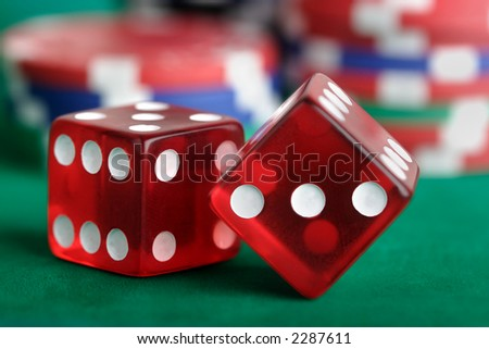 Dice and Chips - stock photo