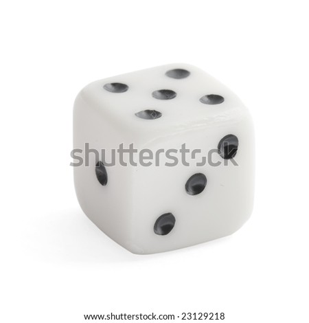 dice close up isolated on a white background(with clipping path)