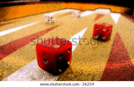 Dice Game - stock photo