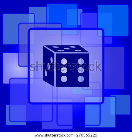 Dice icon. Internet button on abstract background.  - stock photo