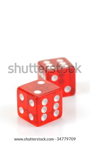 Dice isolated against a white background
