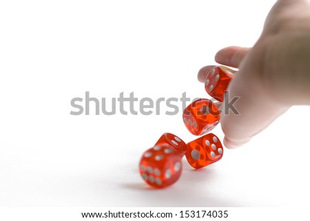 Dice isolated on white - stock photo