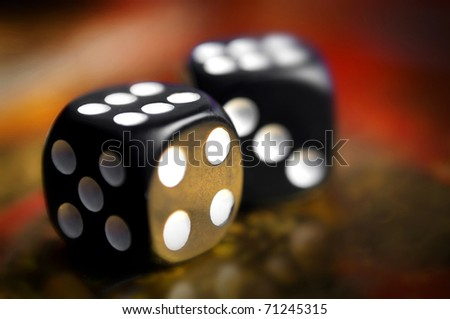 dice on a soft background color - stock photo