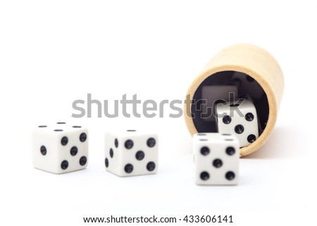 Dice on the white background, Dice isolation - stock photo