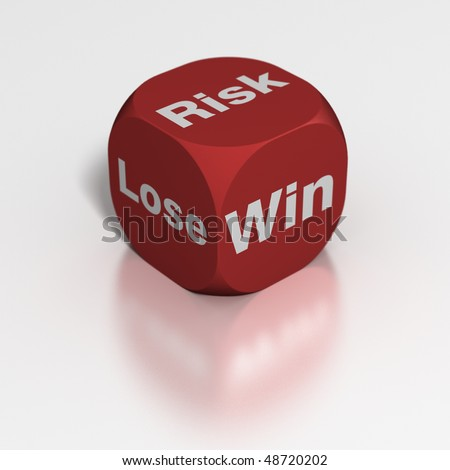 Dice: Risk to Win or Lose - stock photo
