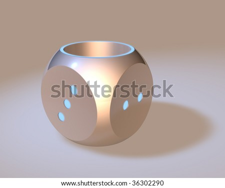 dice shape vase - stock photo