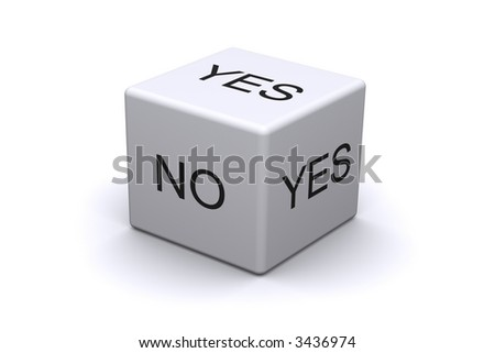 Dice Yes No - stock photo