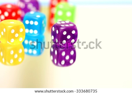 dices colorful - stock photo