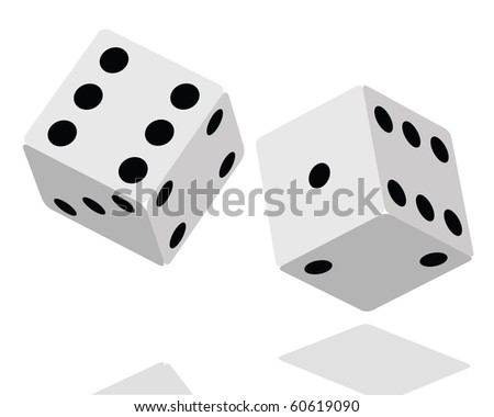 Dices Illustration Clip Art isolated on white