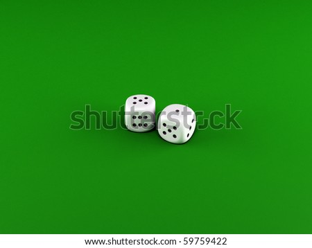 dices on green table - stock photo