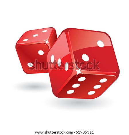 Dices raster - stock photo