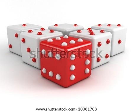 dices winning leadership concept - stock photo