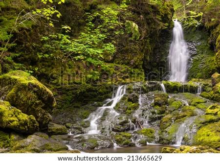 Dickson Falls (Fundy National Park, New Brunswick, Canada) - stock photo