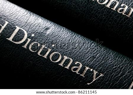 Dictionary close up shot - stock photo