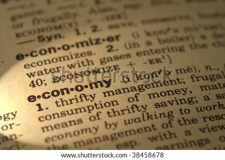Dictionary definition economy