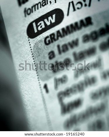 dictionary definition of word law - stock photo
