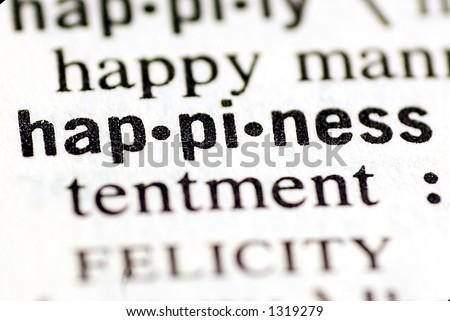 Dictionary: Happiness - stock photo