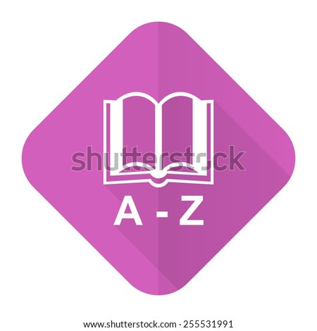 dictionary pink flat icon   - stock photo