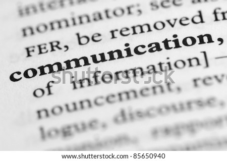 Dictionary Series - Communication - stock photo